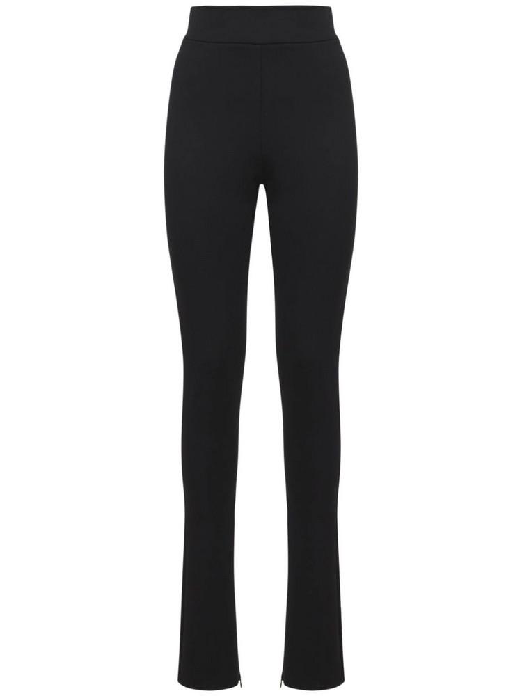 THE ANDAMANE Hoola Jersey Zip Leggings in black