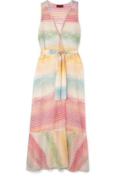 Missoni - Crochet-knit Wrap Dress - Pink