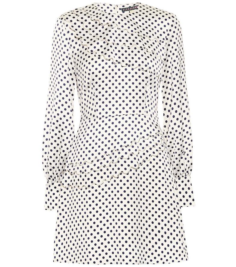 AlexaChung Lilian polka-dot satin minidress in white