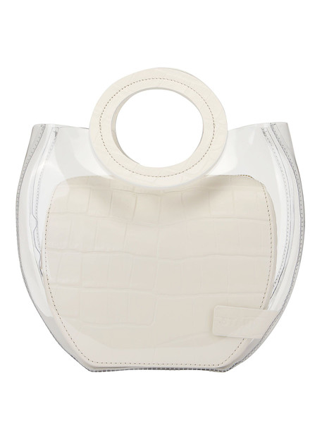 Staud Frida Handbag in cream / clear