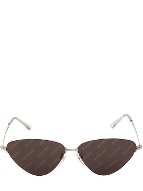 BALENCIAGA Cat Eye Metal Sunglasses in black / grey