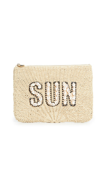 Stoney Clover Lane Sun Flat Pouch in natural