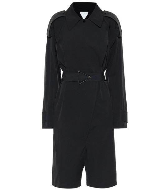 Bottega Veneta Cotton-blend playsuit in black