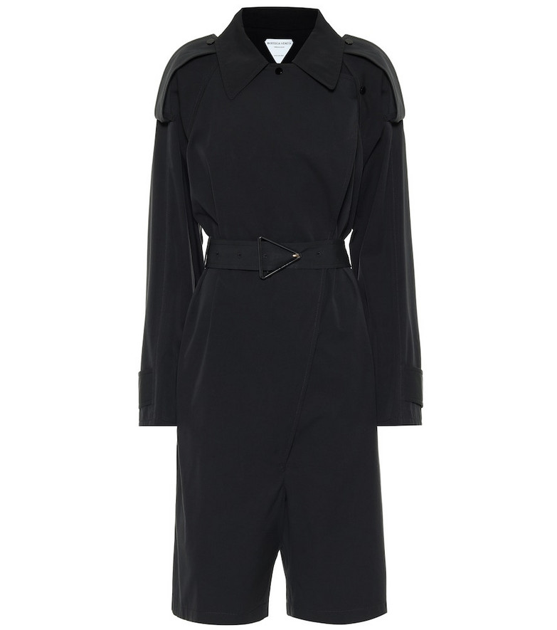 Bottega Veneta Cotton-blend playsuit in black
