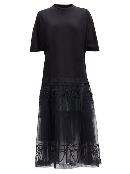 Simone Rocha - Tulle-skirt T-shirt Dress - Womens - Black