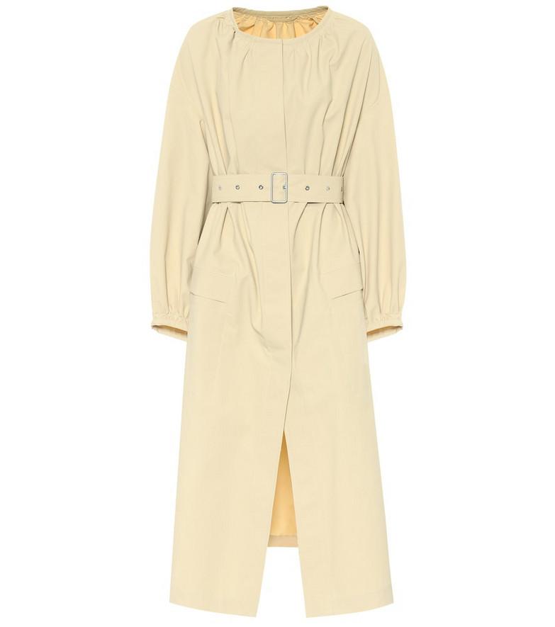 Jil Sander Belted cotton coat in beige