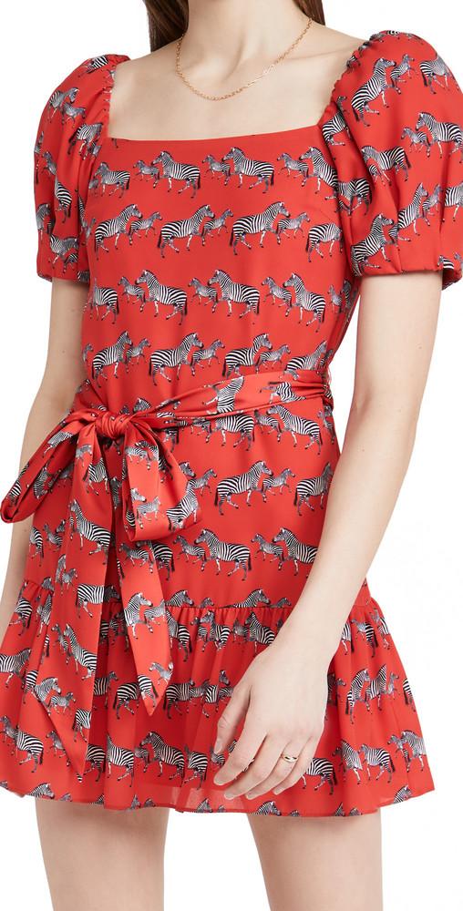 alice + olivia alice + olivia Collette Puff Sleeve Mini Dress
