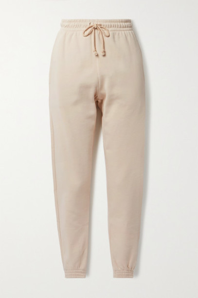 Reformation - Rocky Organic Cotton-jersey Track Pants - Beige