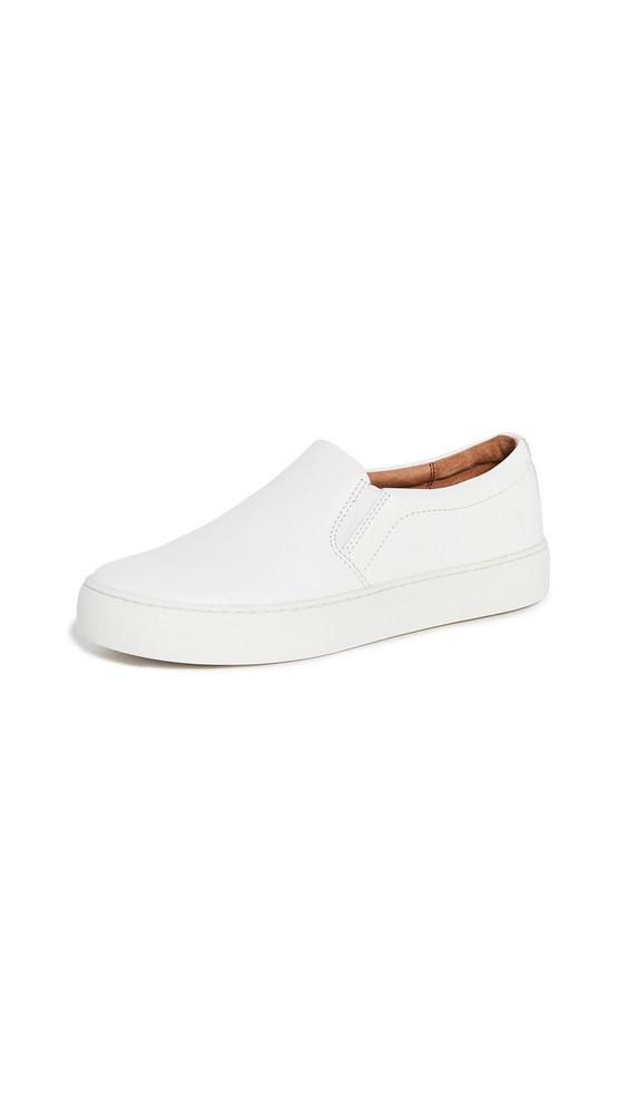 Frye Lena Slip On Sneakers in white