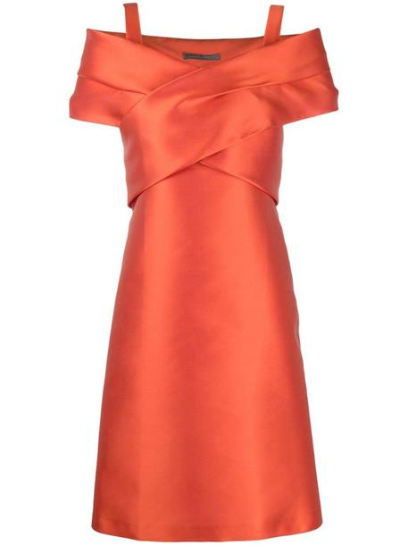 Alberta Ferretti wrap-style mini dress in red