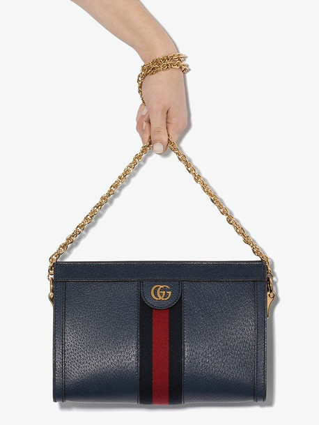 Gucci blue Ophidia small leather shoulder bag
