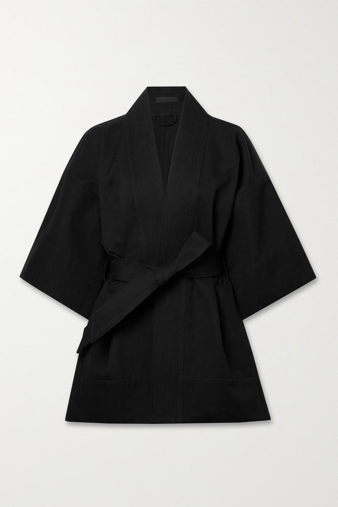 WARDROBE.NYC WARDROBE. NYC - Cotton-canvas Kimono - Black