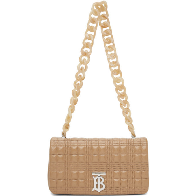 Burberry Beige Small Lola Bag in camel