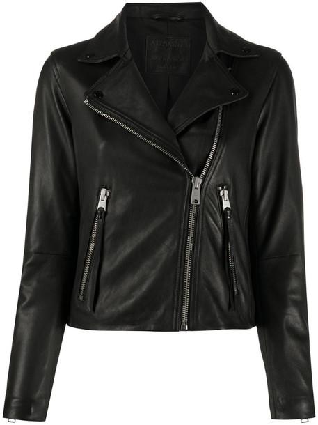 AllSaints Dalby biker jacket in black