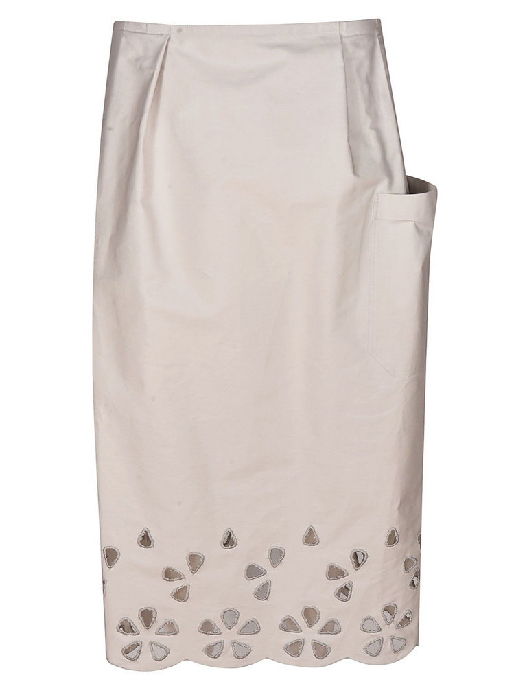 Sofie D'hoore Side Patch Pocket Skirt in beige