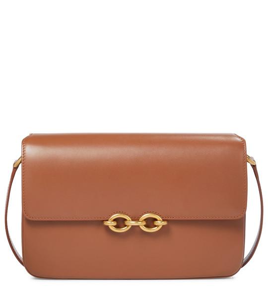 Saint Laurent Le Maillon leather shoulder bag in brown