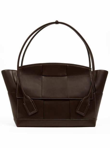 Bottega Veneta - Large Blown Out Intrecciato Leather Bag - Womens - Brown