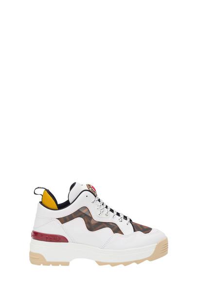 Fendi T-rex Sneaker With Ff Panels in bianco