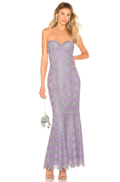 MAJORELLE Balfour Gown in purple