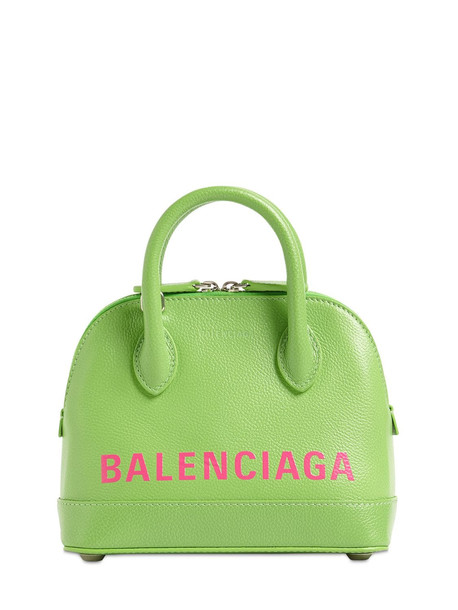 BALENCIAGA Xxs Ville Aj Grained Leather Bag in green