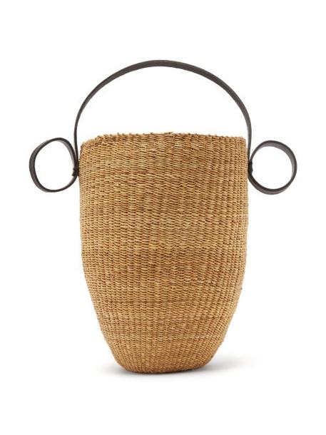 Ines Bressand - N.16 Straw Basket Bag - Womens - Black Multi