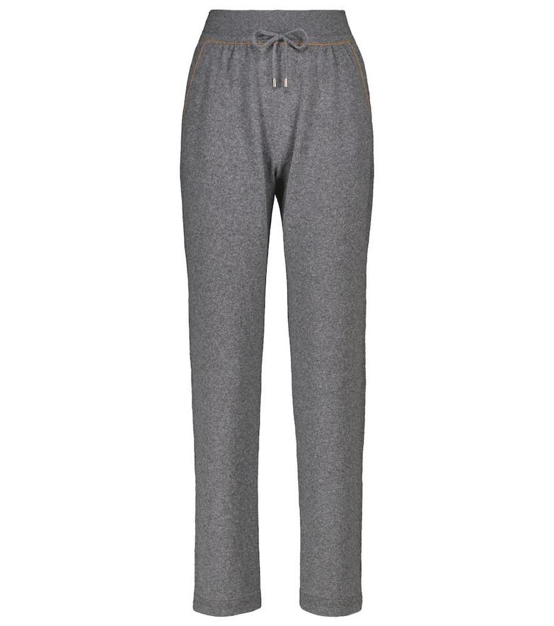 Loro Piana Merano cashmere sweatpants in grey