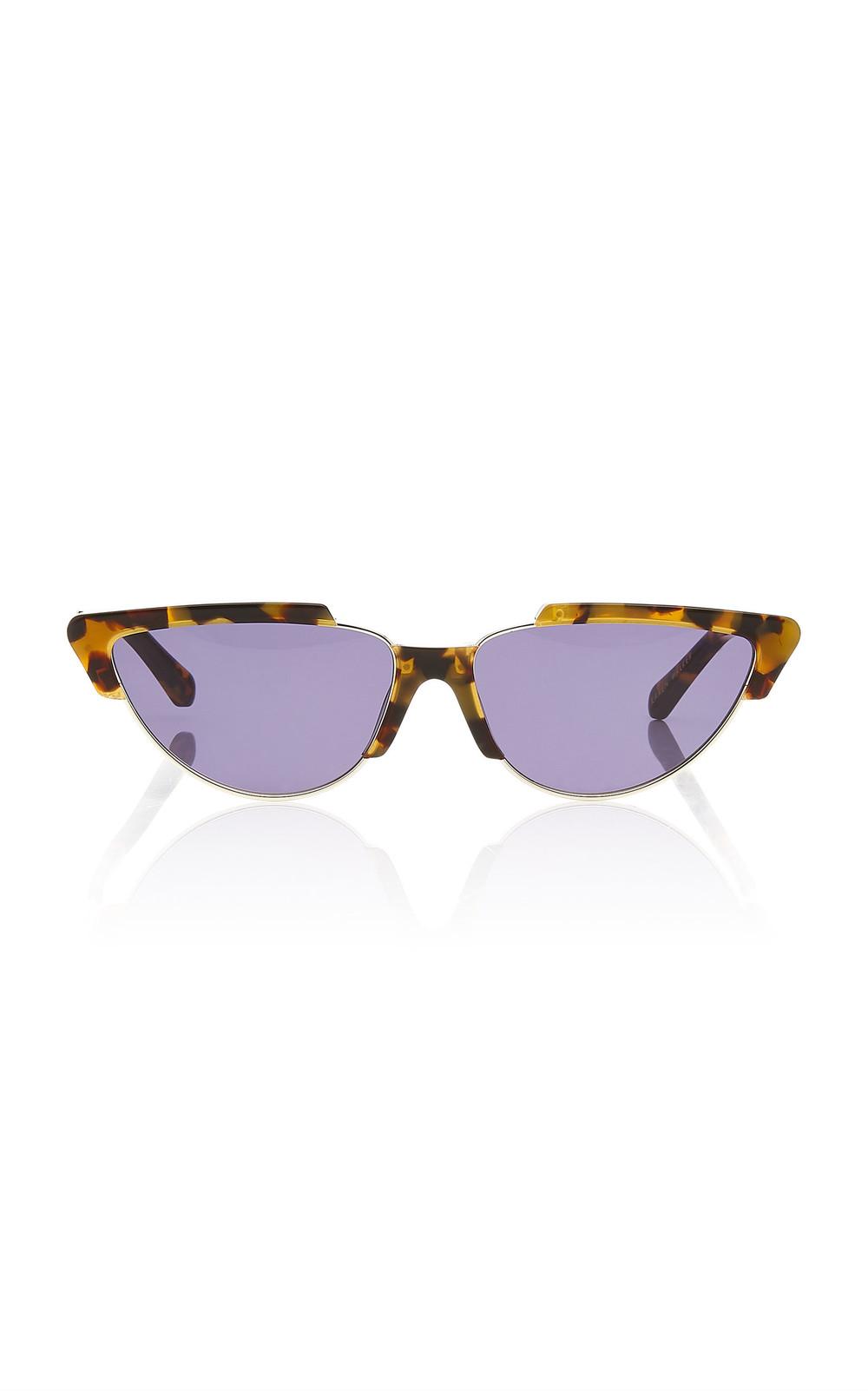 Karen Walker Tropics Cat Eye Acetate Sunglasses in brown
