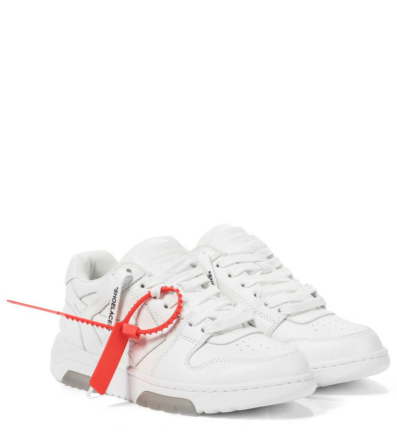 Off-White Out Of Office leather sneakers in white