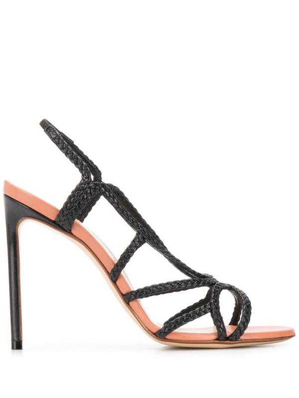 Francesco Russo braided 115mm sandals in black
