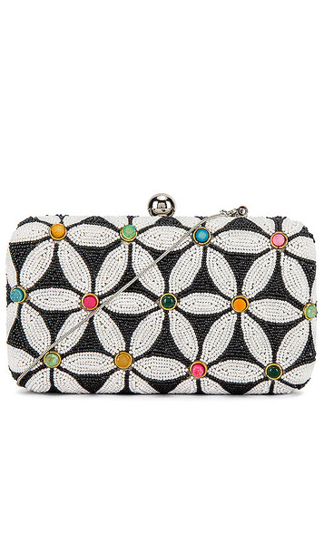 From St Xavier Sabrina Box Clutch in Black & White