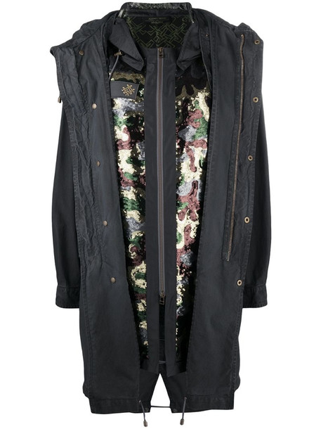 Mr & Mrs Italy x Audrey Tritto camouflage sequin parka in grey