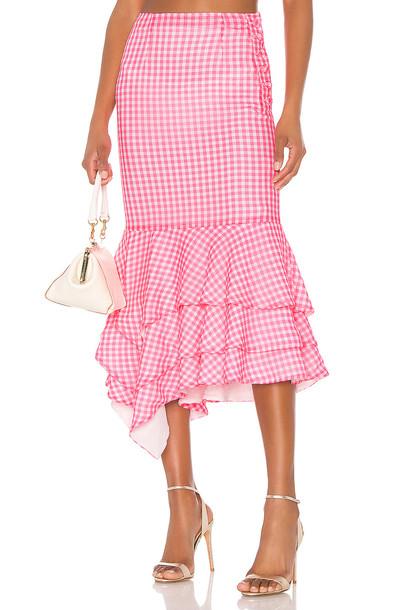 NBD Ayesha Midi Skirt in pink