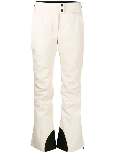 Moncler kick-flare ski trousers in neutrals