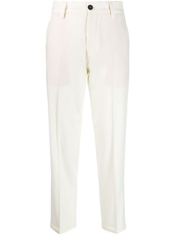 Pt01 Gio straight-leg trousers in white