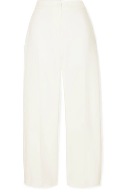 Brandon Maxwell - Twill Straight-leg Pants - Ivory