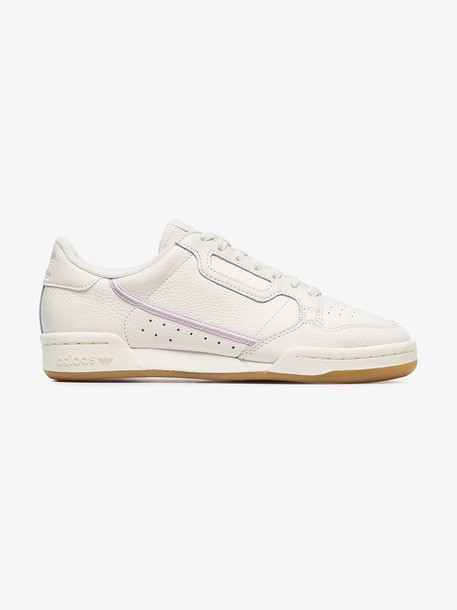 Adidas white Continental 80s low-top leather sneakers