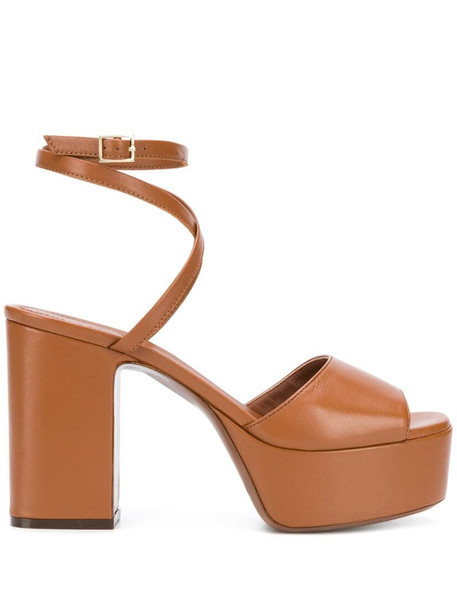 L'Autre Chose block heel sandals in brown