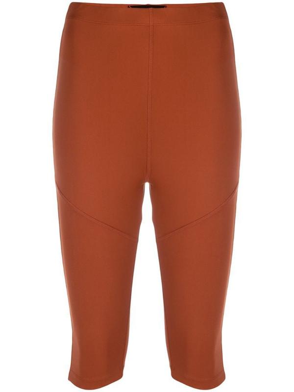 Styland cropped leggings in brown