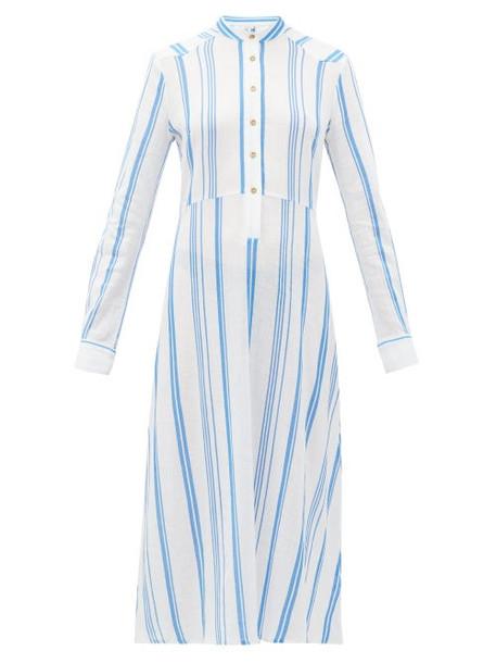 Belize - Silas Striped Cotton Shirtdress - Womens - Blue White