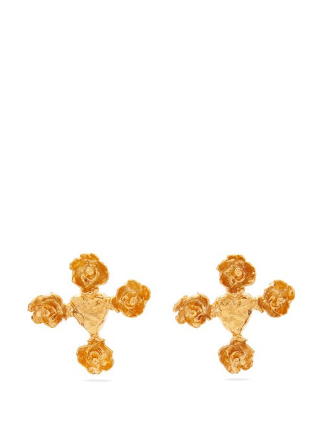 Elise Tsikis - Olys Gold-plated Earrings - Womens - Gold