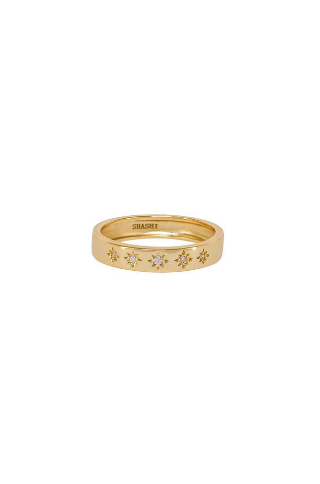 SHASHI Twinkle Band Ring in gold / metallic