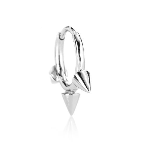 Maria Tash 14kt white gold single earring in silver