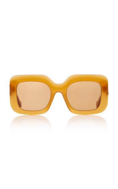 Loewe Square-Frame Acetate Sunglasses in orange