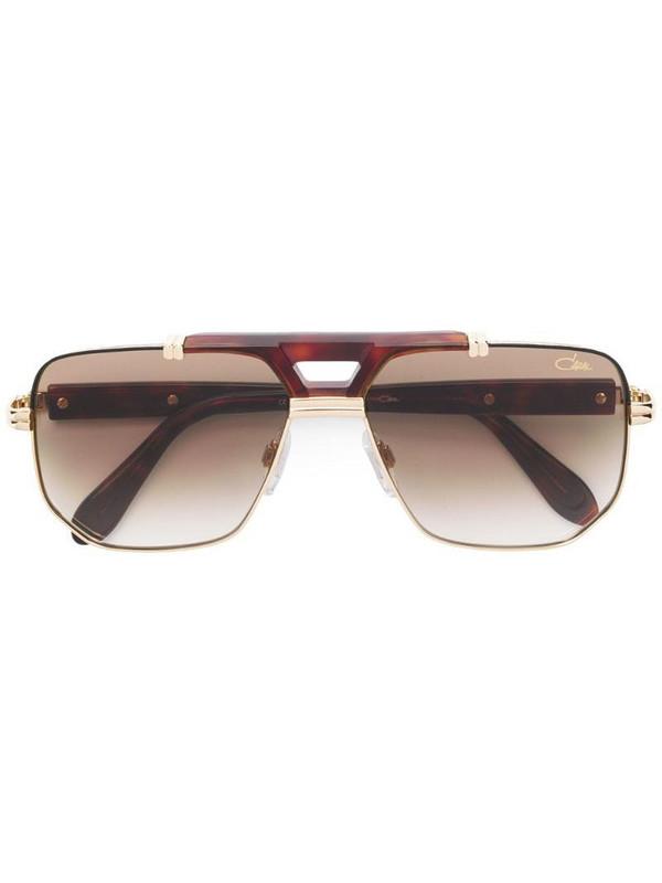 Cazal aviator sunglasses in gold