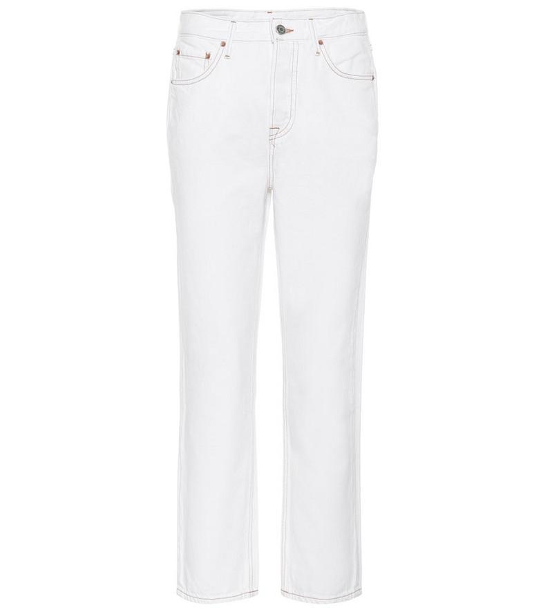 Grlfrnd Helena high-rise straight jeans in white