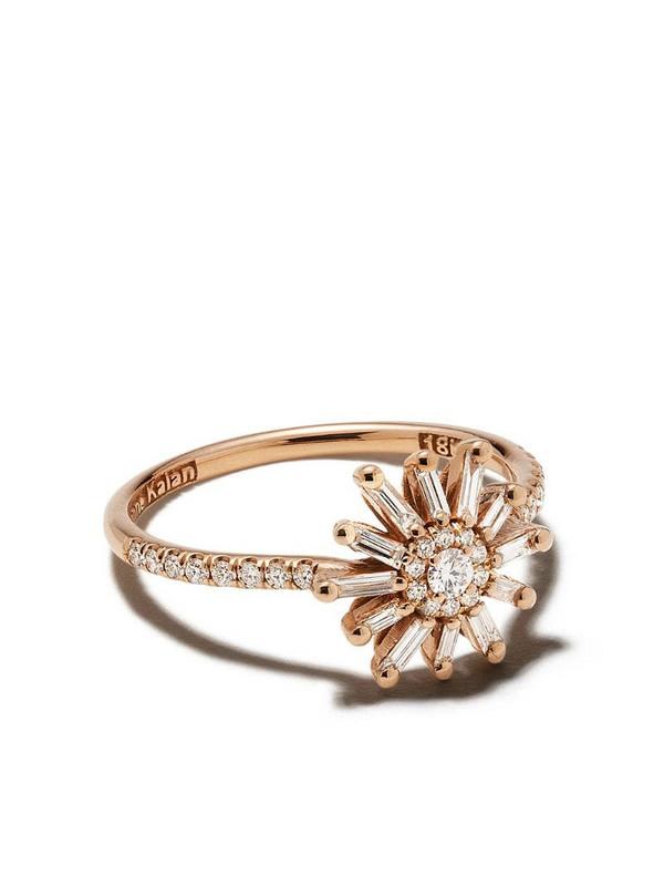 Suzanne Kalan 18kt yellow gold Star diamond ring