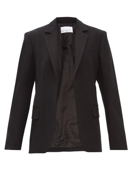 Raey - Martingale-belt Wool Tuxedo Jacket - Womens - Black