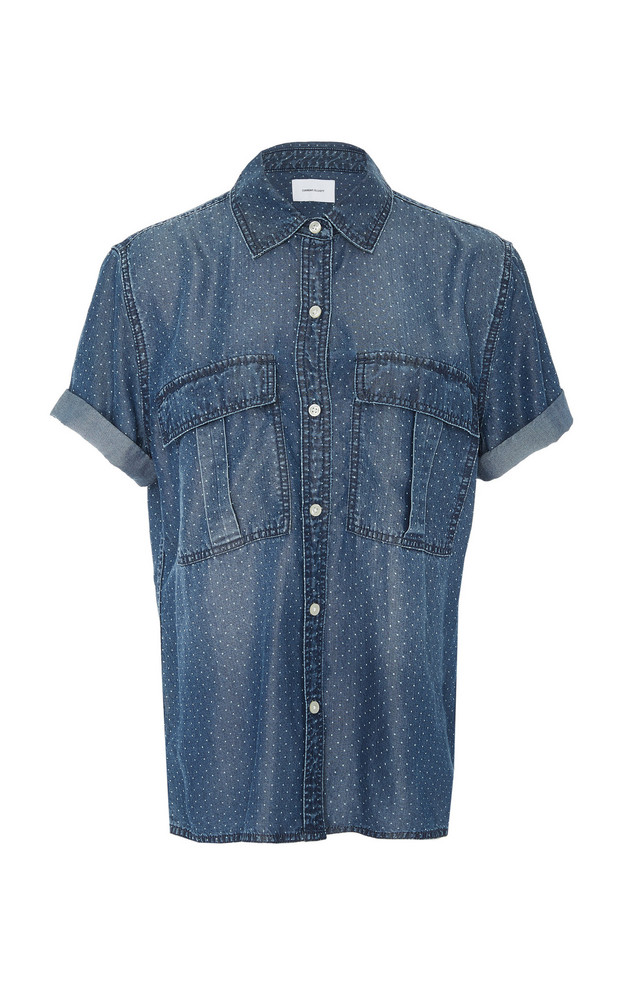 Current/Elliott Amabel Chambray Shirt in blue