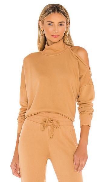 LA Made Essex Sweatshirt in Tan in camel