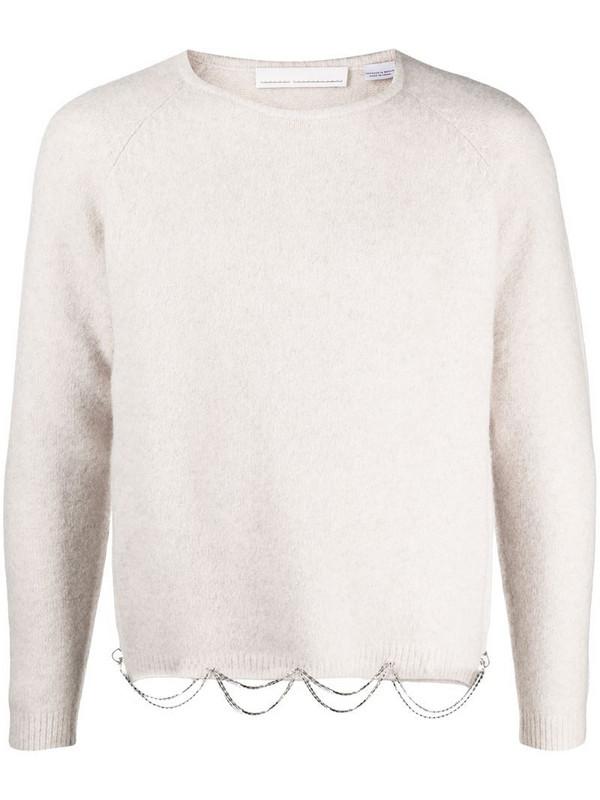 Random Identities drape chain jumper in neutrals